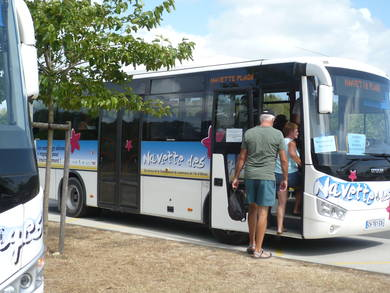 free beach shuttle oleron island at the end of the road near from Atlantic hotel oleron island